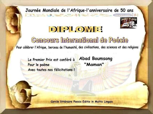 Diplome prix1-Abad Boumsong