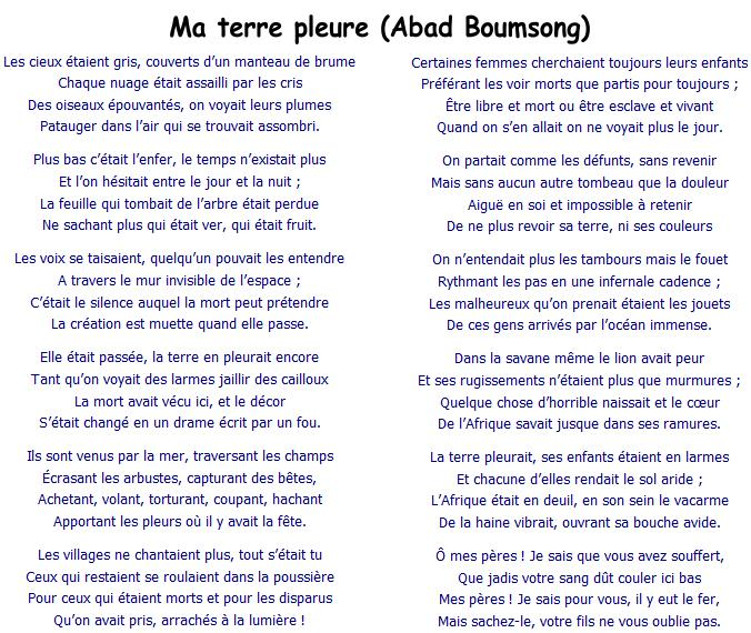 Abad Boumsong - Ma Terre Pleure