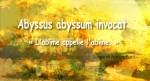 Abyssus abyssum invocat « L'abîme appelle l'abîme »