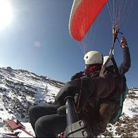 Snow paragliding