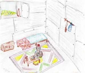 Hendel Ferier - Guettich dans sa maison bâtie en fer